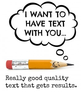 I want to have text